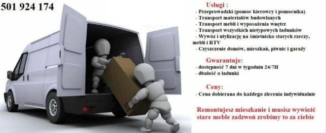 Przeprowadzki, Transport, Utylizacja Mebli, Czyszczenie mieszkań/firm