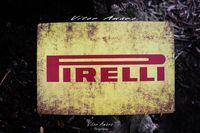 Placa/Chapa de Metal Vintage/Retro Pirelli | NOVA