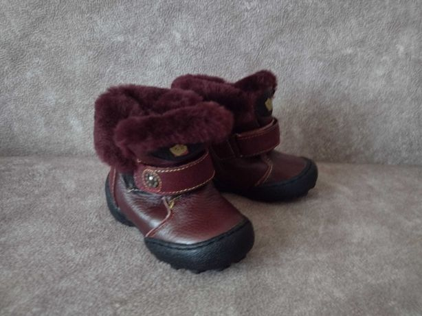 Зимние детские кожаные ботинки