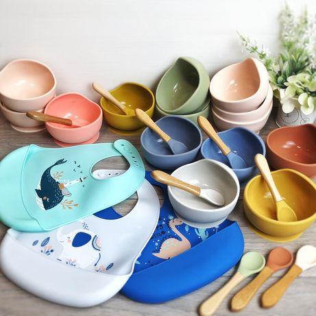 Набор силиконовой посуды для кормления детей из 2-х предметов