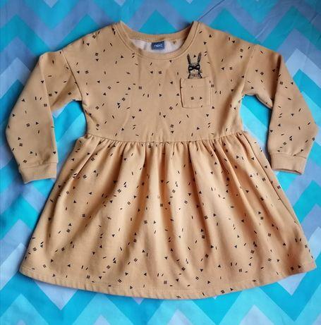 Платье для девочки Next 104 Англия теплое на флисе