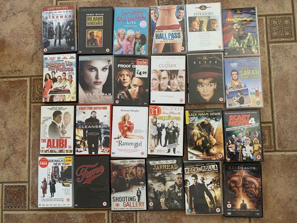150 płyt dvd jezyk angielski komeda horror romans thriller bajka