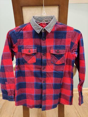 Koszula czerwono granatowa krata 128