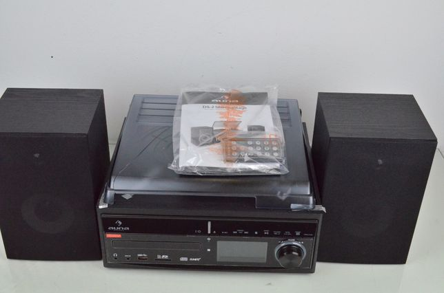 Wieża stereo gramofon CD rekorder MP3 USB DS-2 kolumny