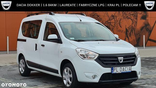Dacia Dokker 1.6 8V 84KM / inst. fabryczna LPG / Kraj PL / Laureate / Polecam !