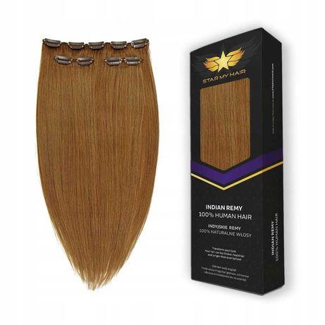 CLIP IN naturalne włosy doczepiane 40 cm 3 taśmy