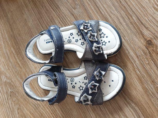 Skorzane sandalki Lasocki 24
