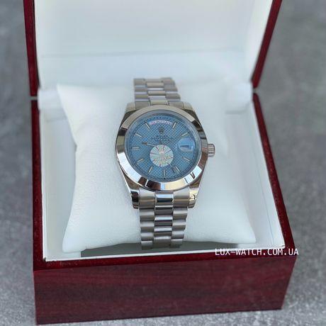 Часы наручные Rolex Day-Date Silver-Blue Ролекс