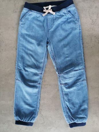 Ocieplone spodenki, jeans, H&M, 116cm