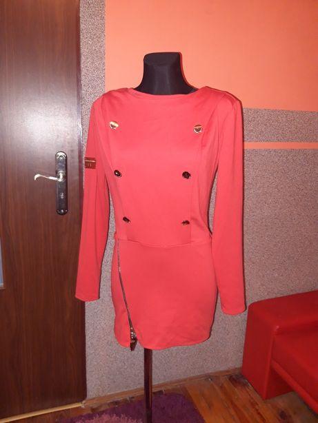 Piękna sukienka czerwona paparazzi fashion