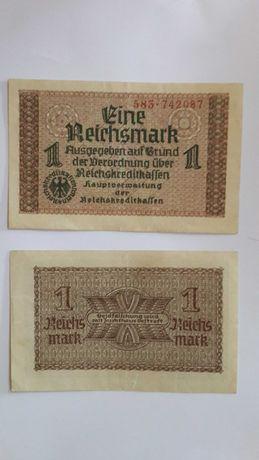 Рейхсмарки Украина 1942год. Оккупационные бумажные деньги