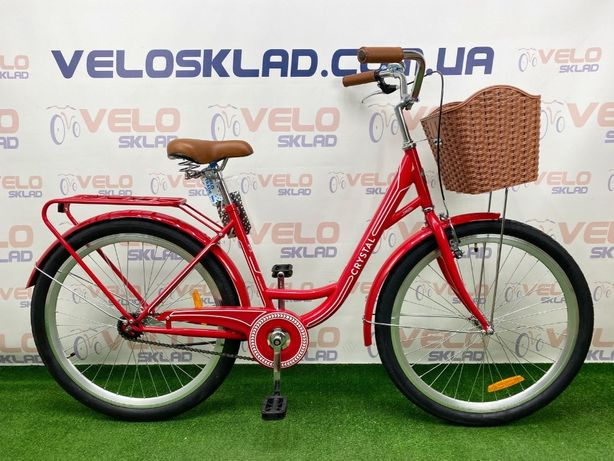 Велосипед Dorozhnik Crystal 26 кол рама 17 (красный)