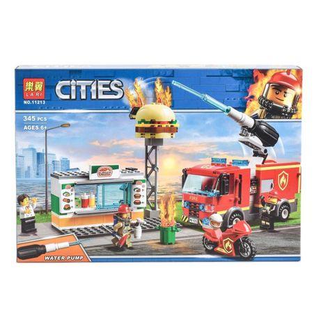 """Конструктор Bela Cities 11213 """"Пожар в бургер-кафе"""", 345 деталей, лего"""