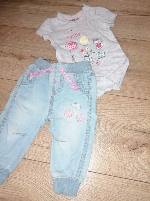 Zestaw dla dziewczynki. Spodnie plus body. Rozmiar 62. Rypin - image 1