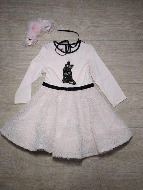 Нарядное платье для девочки на два года
