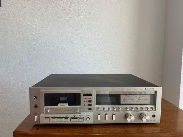 leitor/gravador cassetes SANYO