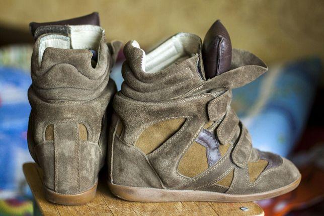 Сникерсы, кроссовки, кросівки. Замш + кожа натурал. 39 разм