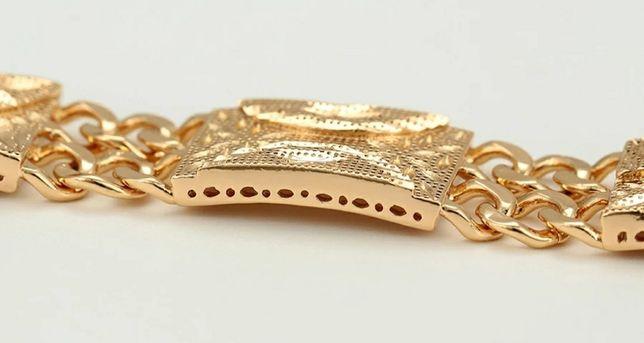 """""""CHANEL""""- piękna złota (14k) bransoletka w doskonałej cenie;"""