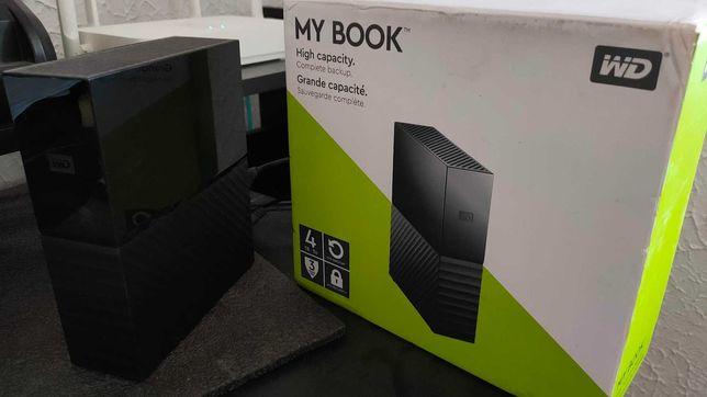 WD My Book 4TB зовнішній жосткий диск USB3.0 (WDBBGB0040HBK)