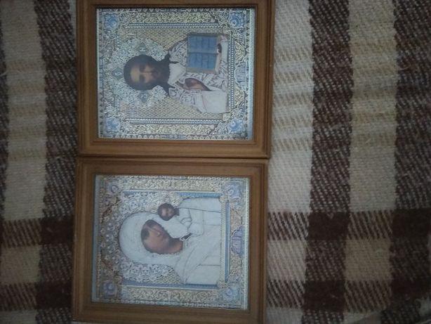 Иконы венчальные Иисус Христос, Матерь Божья Казанская Николай Чудотв