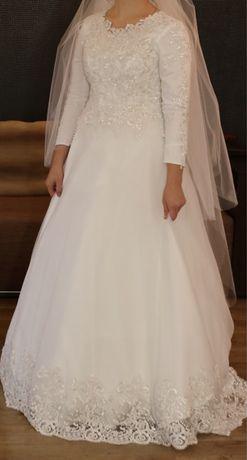 Свадебное платье ручноя работа, с Америки
