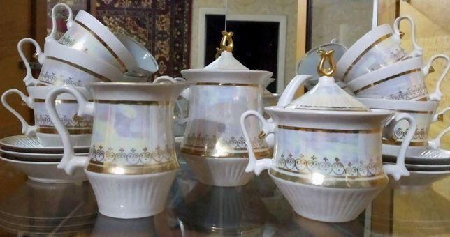Перламутровый чайный сервиз 15 предметов, новый