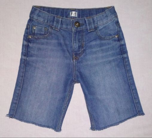 Джинсовые шорты F&F Мальчику на 6-7 лет (h&m,next)