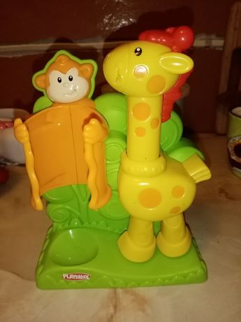 Żyrafa i małpa playskool