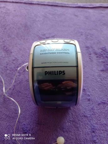 Radio budzik projektor Philips AJ3600, stan bardzo dobry