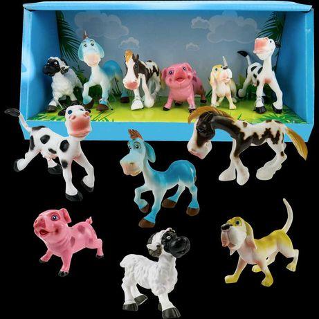 Zestaw zwierząt gumowych Farma figurki Gospodarstwo 6 sztuk