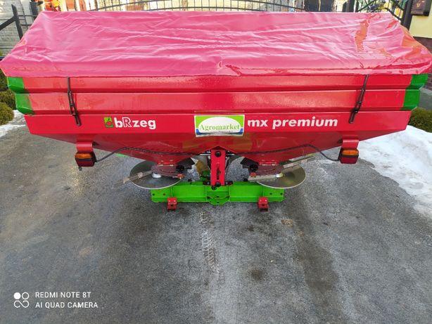 Rozsiewacz nawozu Unia Brzeg MX Premium 1600 + nadstawki STAN IDEALNY
