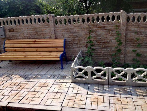 Глянцевый Еврозабор, тротуарная плитка, бордюры, поребрик