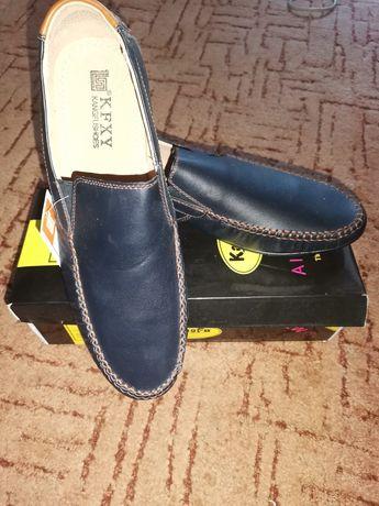 Мужские кожаные туфли 43р.