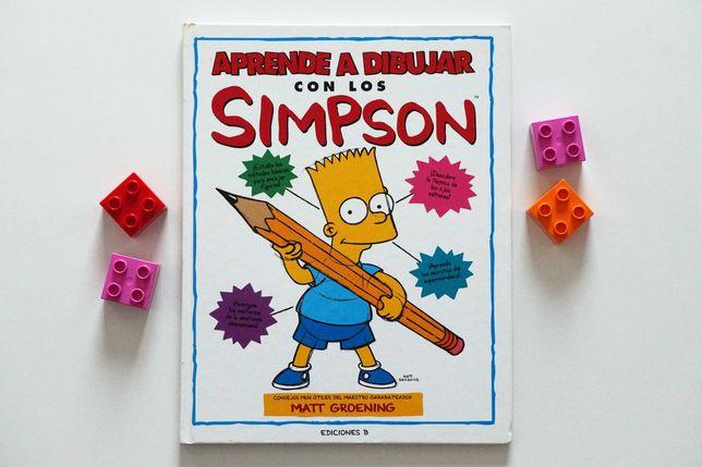"""""""Aprende a dibujar con los Simpson"""" książka po hiszpańsku"""