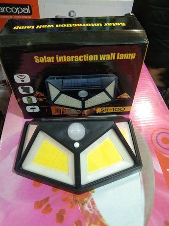 Фонарь на солнечной батарее с датчиком движения 100 led