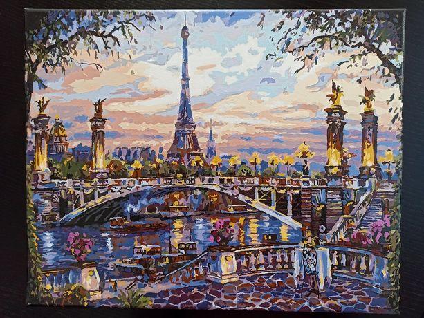 """Готовая картина по номерам """"Париж"""""""