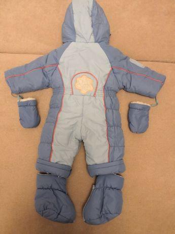 Детский зимний комбинезон-трансформер для мальчика