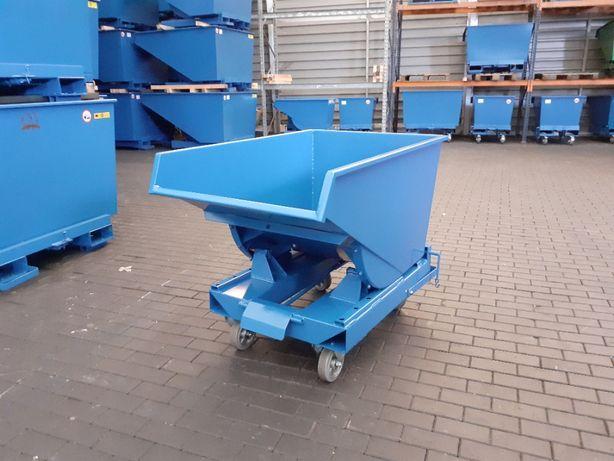 Pojemnik metalowy do wózka kontener wywrotka koleba 300L premium