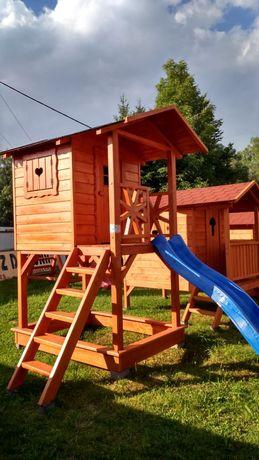 Domek drewniany, plac zabaw dla dzieci