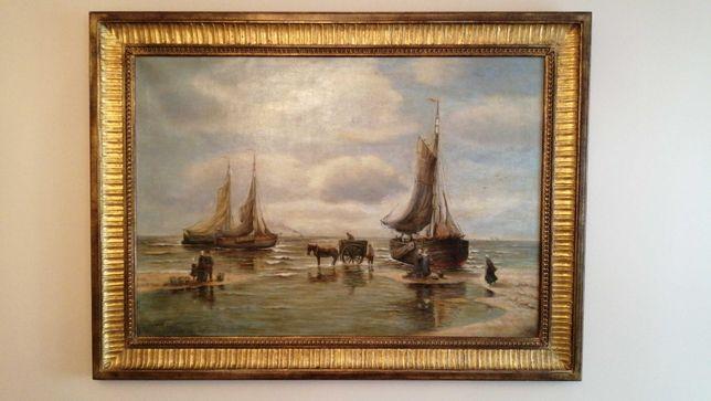 Ob. olej na płó. Hans Wacker (ps.Jan Tenhagen) ur.1868 r.- zm.1958 r.