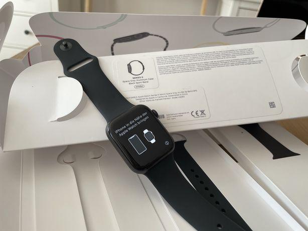 Apple Watch S5 44mm black z czarnym paskiem gwarancja 4 miesiące