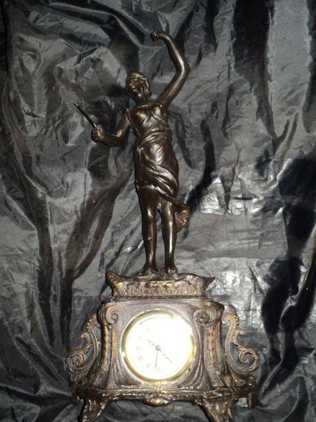 Старинные каминные часы Франция высота 52см антиквариат эксклюзив