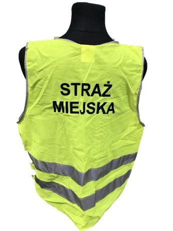 """Wyprzedaż - Kamizelka Ostrzegawcza """"STRAŻ MIEJSKA"""" XL"""