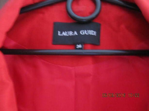 Żakiet, marynarka Laura Guidi roz. 36 czerwony.