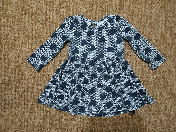 Платье с рукавом 12-18 месяцев
