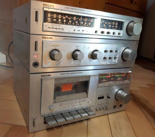 Zestaw mini wieża Philips - 2312 Tuner & 4312 Amplifier & 6312 Deck