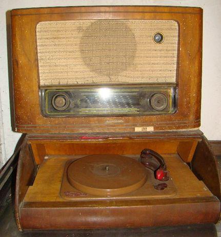 stare radio z gramofonem komplet
