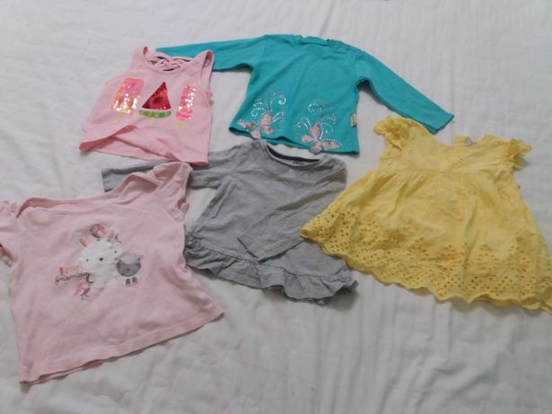 Футболки Пакет лот набор  одежды для девочки 2 года