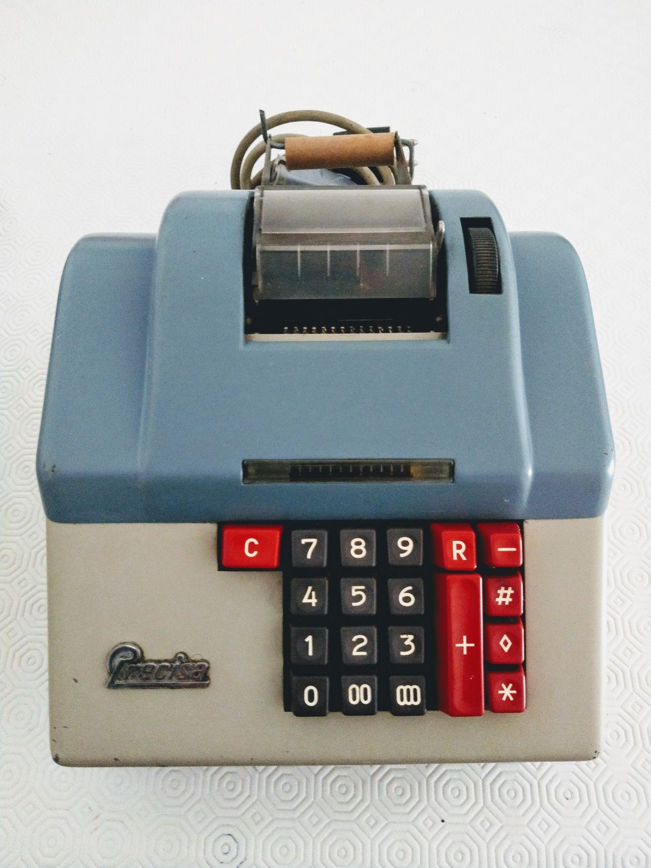 Máquina calculadora antiga Precisa a funcionar