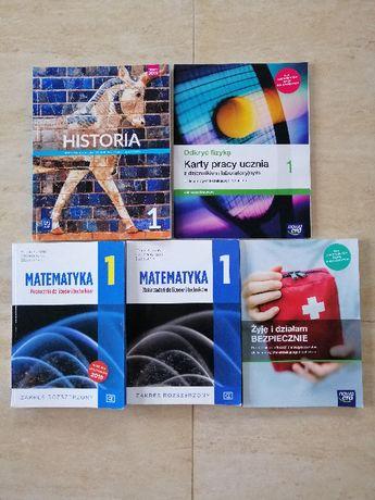 Historia, Fizyka karty pracy - klasa 1, podręczniki Liceum,technikum